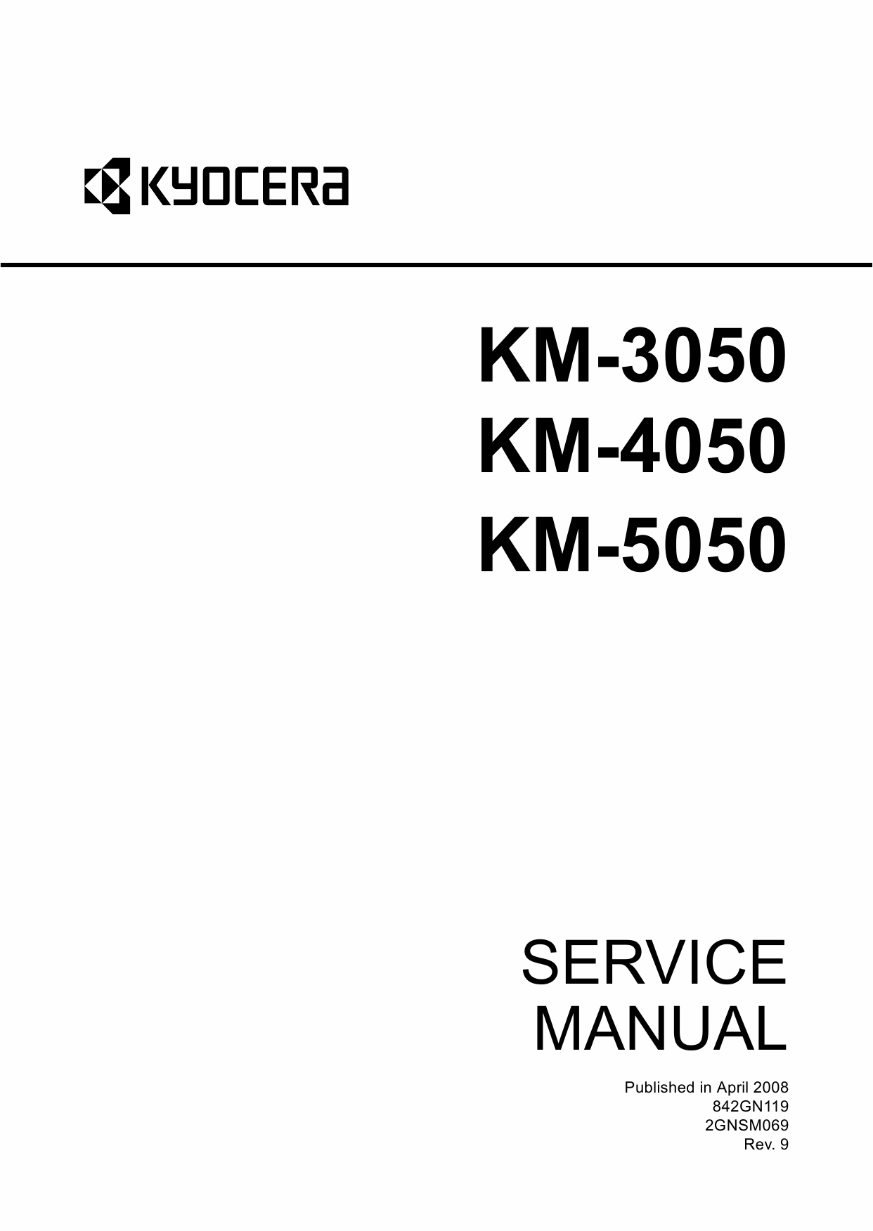 KYOCERA Copier KM-3050 4050 5050 Service Manual-1
